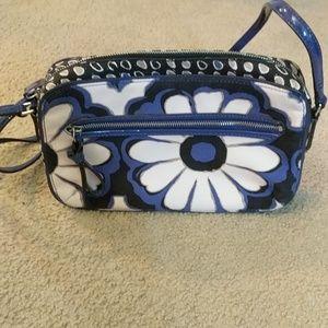 Coach Poppy Flower Blue Floral Crossbody Bag